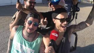 Carrinho de Golf Karaoke - Diogo Piçarra a caminho do estúdio da RFM no Meo Sudoeste