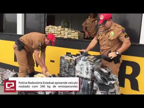 Polícia Rodoviária Estadual apreende veículo roubado com 240 kg de entorpecentes- Cidade Portal
