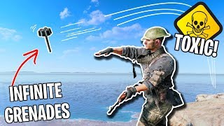 Playing Battlefield 5 BUT I'm SUPER TOXIC! (infinite grenade spam glitch)