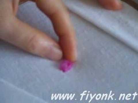 ribbon rosebud, chain stitch: kurdele nakışı gonca