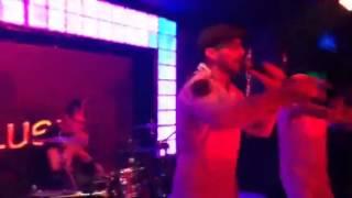 Jorge bailando en show de G-Eyes y Zuriel