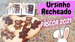 URSINHO DE CHOCOLATE RECHEADO – ESPECIAL DE PÁSCOA 2021