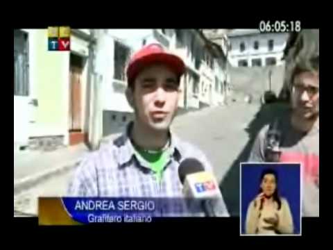 Mr.Wany y Peeta_God's Of Paint_ Interview on Ecuador National TV