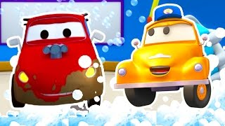 Tom the Tow Truck's Car Wash and Jerry The Racing Car | Truck cartoons for kids