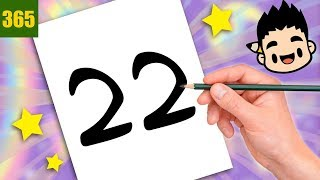 INCREIBLE TRICK WITH NUMBER 22 - TECKNING MED NUMBER 22