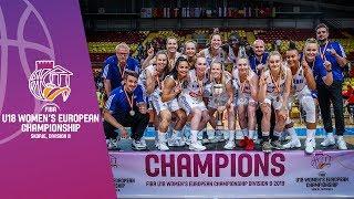 Finland v Greece - Final Full Game  - FIBA U18 Women's European Championship Division B 2019