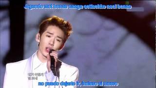 2AM  live - Can't Let You Go Even If I Die sub español + romanizacion