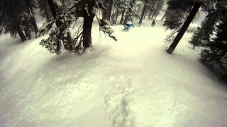 Tree riding on a pow day at Northstar 03/06/2013