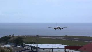 SATA International Airbus A310-304 landing Sao Miguel Island, Azores