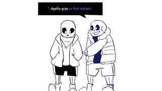 SANS AND OUTERTALE!SANS PUNS SCENE - [UNDERVERSE 0.4 OUT TAKE]