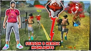 FREE FIRE SEASON 9 ROAD TO HEROIC HIGHLIGHTS // GARENA FREE FIRE !!!