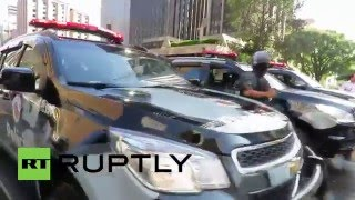 Brasil: Polícia dispersa manifestantes anti-gov durante confrontos em São Paulo