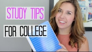 Study Tips To Succeed In College!