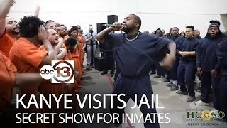 Kanye West performs for inmates inside Houston jail