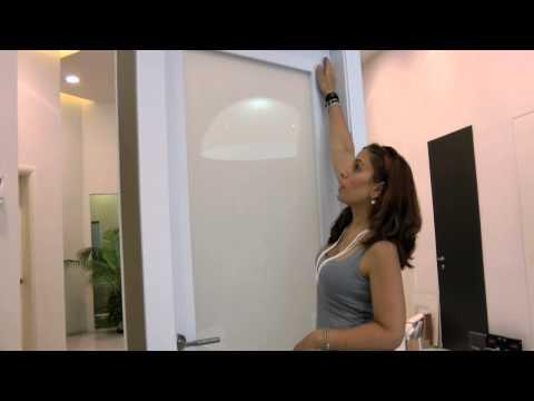 דלתות מזוגגות - זכוכית בשילוב עץ