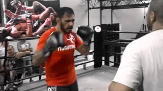 Boxe com Rogério Minotouro na Team Nogueira SP - Zonal Sul