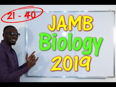 JAMB CBT Biology 2019 Past Questions 21 - 40
