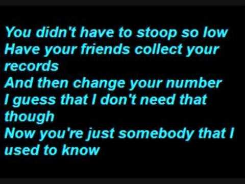 Gotye - Somebody That I Used To Know (Lyrics)