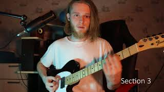How to play 'Dead Memories' by Slipknot Guitar Solo Lesson / Разбор соло Dead Memories