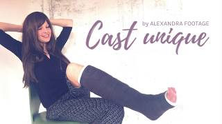 Cast unique | ALEXANDRA FOOTAGE (Gipsbein, Sprain, Cast)