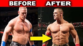 10 Surprising WWE Body Transformations - John Cena, Roman Reigns & more