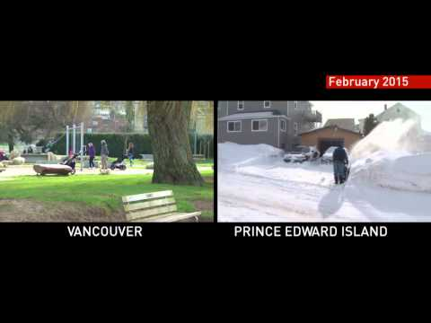 Canada's Winter Weather Extremes - Vancouver, BC vs Prince Edward Island