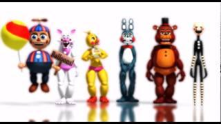 [MMD FNAF]Five Nigths at Freddy's 2_Minions bananas song