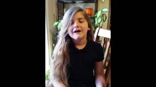 Grace C singing White Boots by Jamie Grace (cover)