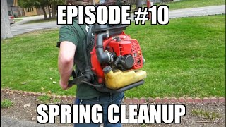 Spring Cleanup & Mulch Job - Landscaping Lawn Business Reality Show (Episode#11)