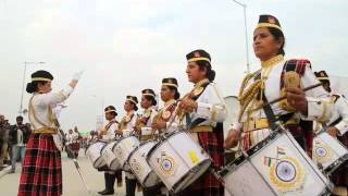 CRPF women bagpiper band performs during Lucknow Mahotsava 2016