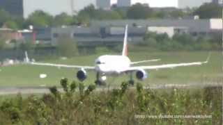 RAK Airways (Jet2) Boeing 757-23N G-LSAK take off in hamburg fuhlsbuettel