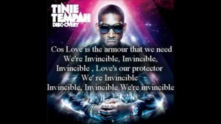 Tinie Tempah ft Kelly Rowland Invincible (lyrics)