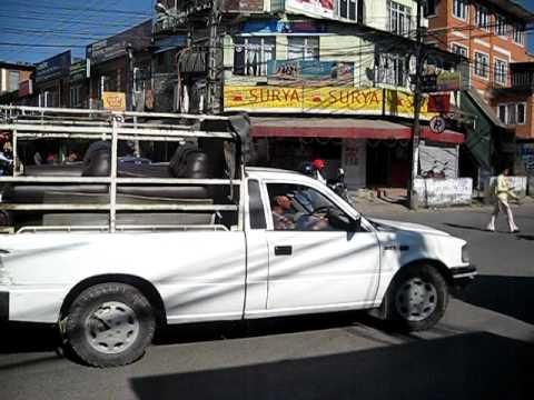 Nepal Kathmandu – never ending traffic