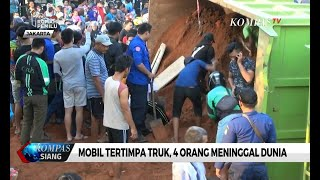 Mobil Tertimpa Truk Tanah di Karawaci, 4 Orang Meninggal Dunia