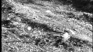 US army infantry captures enemy bunker during Korean War. HD Stock Footage