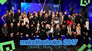 Melodifestivalen 2017 | My TOP12 - Eurovision 2017: Sweden