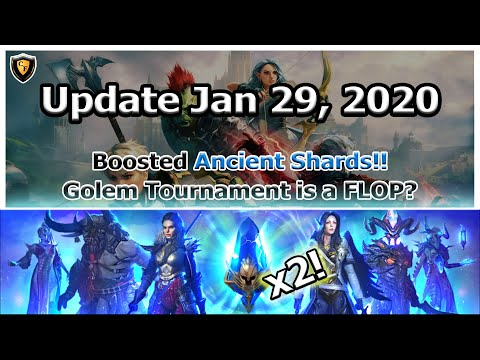RAID Shadow Legends | Update Jan 29, 2020 | x2 Ancients! | Golem Tourney Flop?