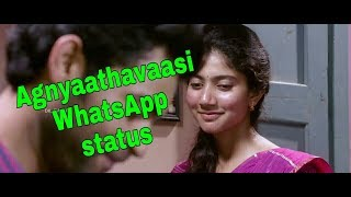 Agnaathavaasi WhatsApp status fida version width=
