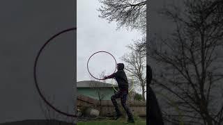 Dancing in the moonlight 🌚 double hoop video