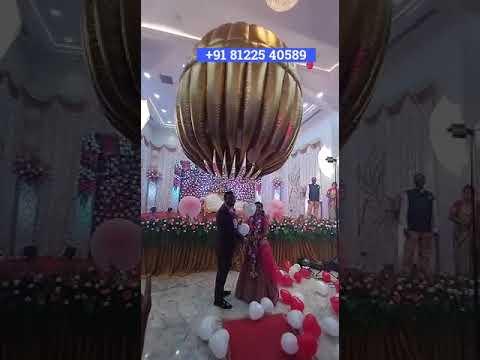 Balloon Shower New Concept Wedding Entertainment +91 81225 40589 India