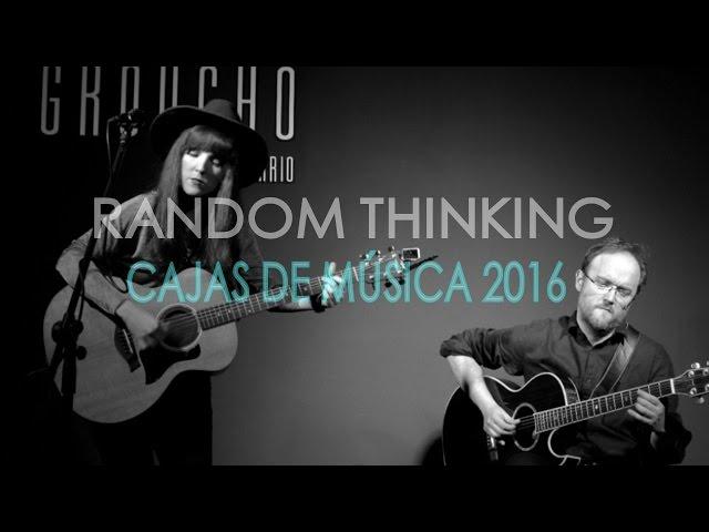 RANDOM THINKING- I´m a woman and you´re a man (acústico) Ciclo Cajas de Música (Santander)