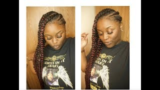 EASY D.I.Y FEED IN BRAIDS TO THE SIDE