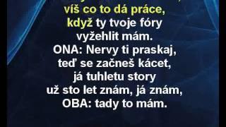 Petr Janda & Petra Janů - Jedeme dál (karaoke z www.karaoke-zabava.cz)