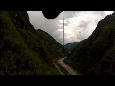 Me Ziplining @Baños, Ecuador
