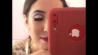 purple eyeshadow with gold cut crease-purple gold eye makeup tutorial- easy eye makeup tutorial