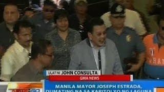 NTG: Mayor Joseph Estrada, nasa Kapitolyo na ng Laguna