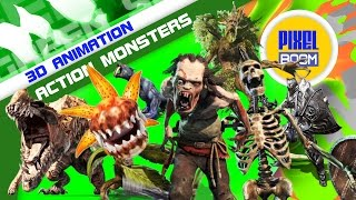 Green Screen Action Movies Monsters and Animals Attack - Footage PixelBoom
