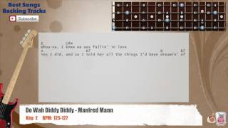 Do Wah Diddy Diddy - Manfred Mann Bass Backing Track with scale, chords and lyrics