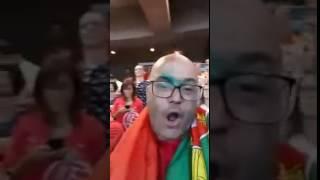 Fernando Rocha Festeja golo de Éder PORTUGAL VENCE EURO 2016