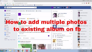 How to Add Multiple Photos to Existing Album on Facebook FB Tips 71